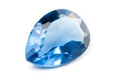 蓝绿色宝石 免版税库存照片