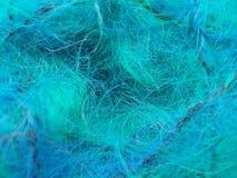 蓝绿色毛海织物纱线 免版税库存图片