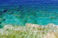 蓝绿色水 免版税库存照片