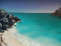 蓝绿色海湾 库存图片