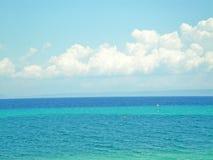 蓝绿色海运 库存照片