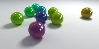 蓝绿色紫色遮蔽范围 库存照片