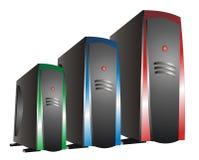 蓝绿色红色rgb服务器 库存图片