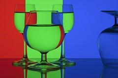蓝绿色红色rgb 库存照片