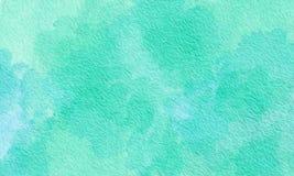 蓝绿色纹理油漆背景 免版税库存照片