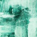蓝绿色绿色绿松石和白色掠过了油漆背景纹理摘要刷子冲程混乱样式 库存图片