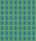 蓝绿色马赛克遮蔽黄色 库存照片
