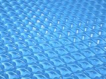 蓝色七高八低或起水泡的纹理 库存例证