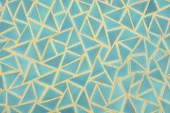 蓝色三角墙壁 免版税库存图片