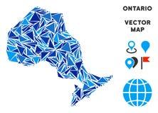 蓝色三角安大略省地图 皇族释放例证