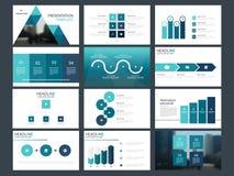 蓝色三角捆绑infographic元素介绍模板 企业年终报告,小册子,传单,广告飞行物, 库存例证