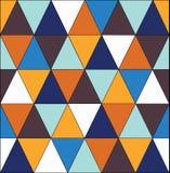 从蓝色三角的几何马赛克样式 免版税库存照片