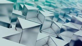 蓝色三角背景 免版税库存图片