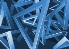 蓝色三角设计 免版税库存图片