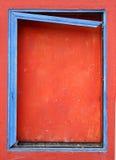 蓝色上的框架视窗 免版税库存照片