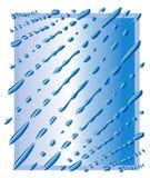 蓝色下落下雨waterdrops 向量例证