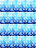 绘蓝色下落样式设计,手拉的pantone的水彩 库存照片