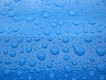 蓝色下落水 免版税库存图片