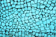 蓝色不对称的瓦片纹理  免版税图库摄影