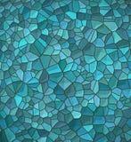 蓝色不规则的马赛克模式 库存照片