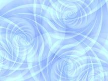 蓝色不透明的螺旋漩涡 免版税图库摄影
