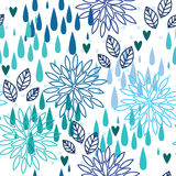 雨无缝的样式 皇族释放例证