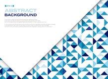 蓝色与spac的三角样式几何背景摘要  图库摄影