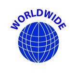 蓝色世界的标志在白色背景的 免版税库存图片