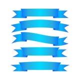 蓝色丝带的一个美妙的简单设计 库存例证