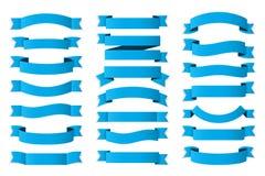 蓝色丝带 免版税库存图片