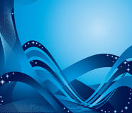 蓝色丝带 免版税库存照片