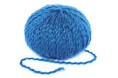 蓝色丝球 免版税库存照片