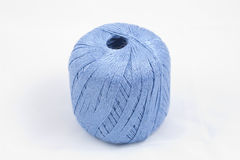 蓝色丝球 库存图片
