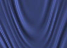 蓝色丝绸 免版税图库摄影