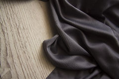 蓝色丝绸布 免版税库存照片
