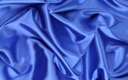 蓝色丝绸布 免版税库存图片
