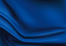 蓝色丝织物背景传染媒介  库存照片