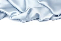 蓝色丝绸背景 免版税图库摄影