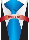 蓝色丝绸领带为父亲` s天 向量例证