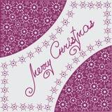 蓝色中心圣诞节构成秋天在长方形雪花附近找出对白色 免版税库存照片