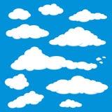 蓝色云彩天空向量 免版税图库摄影