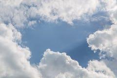 蓝色云彩天空白色 免版税图库摄影