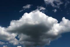 蓝色云彩天空 库存照片