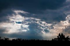 蓝色云彩,颜色 库存照片