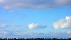 蓝色云彩 时间间隔 股票视频