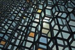 蓝色五颜六色的玻璃 库存照片