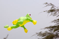 蓝色五颜六色的风筝天空 库存图片