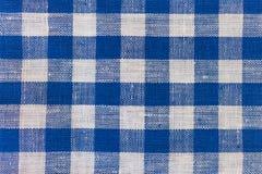蓝色亚麻制棉花纹理  免版税库存图片