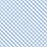 蓝色交叉方格花布淡色无缝的织法 免版税库存图片