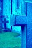 蓝色交叉 库存照片